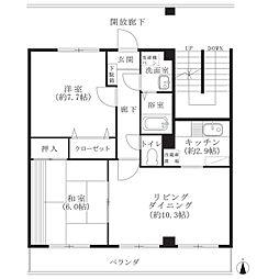 フォブール梅田[1階]の間取り