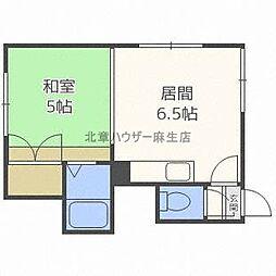 北海道札幌市北区北三十二条西6丁目の賃貸アパートの間取り