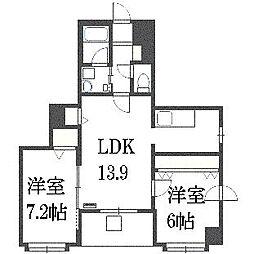 北海道札幌市白石区北郷七条3丁目の賃貸マンションの間取り