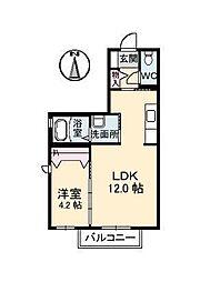 クレセントハイム A棟[2階]の間取り