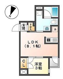 COZY大曽根[2階]の間取り