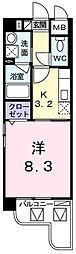 ドミールシモハタ[405号室]の間取り