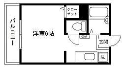 エスポワール昭和[202号室]の間取り
