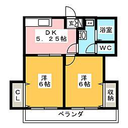 パルステージ216IIZUKA[2階]の間取り