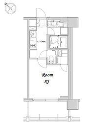 都営浅草線 人形町駅 徒歩12分の賃貸マンション 7階1Kの間取り