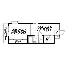 静岡県浜松市中区松城町の賃貸アパートの間取り