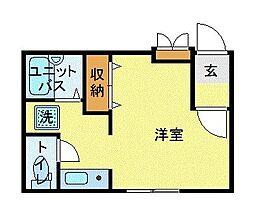 MODULOR武蔵野中町 3階1Kの間取り