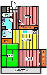 メゾンエビハラ[2階]の間取り