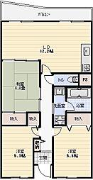 ガーデンライフ旭ヶ丘[2階]の間取り