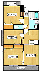 メゾンMロードII[2階]の間取り