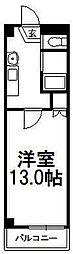 ベルファーレ前田[410号室]の間取り