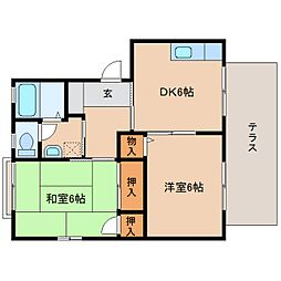 静岡県静岡市清水区弥生町の賃貸アパートの間取り