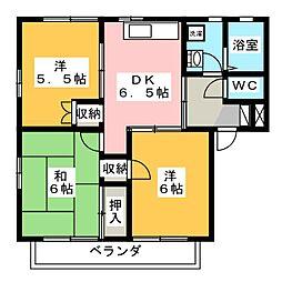 メゾニティーブラッサム E[2階]の間取り