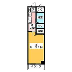 服部園ビル[3階]の間取り