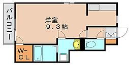 ドミール三嶋[1階]の間取り
