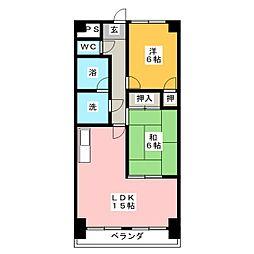 フィレンチェコート[11階]の間取り