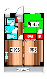 南浦和都屋ビル[3階]の間取り