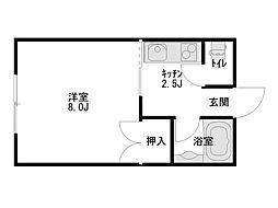 エクセルシャトー高松[105号室]の間取り
