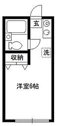 東京都新宿区大久保1丁目の賃貸アパートの間取り