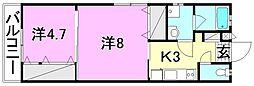 プレアマール・KIKU 東棟[108 号室号室]の間取り