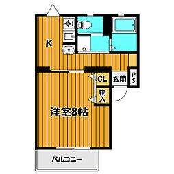 メゾンヤマト本町[206号室]の間取り