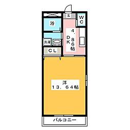 ハイツフレンド樋越II[1階]の間取り