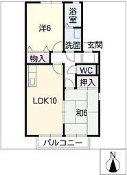 ニュー高畑[2階]の間取り