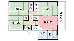 仁川マンション[2階]の間取り