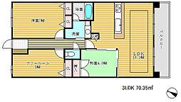 デュオプレステージ新神戸熊内レジデンス[4階]の間取り