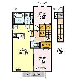 ラ・ピーノ7[2階]の間取り