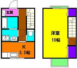 [テラスハウス] 静岡県浜松市北区初生町 の賃貸【静岡県 / 浜松市北区】の間取り