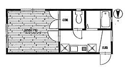東京都豊島区南長崎5丁目の賃貸アパートの間取り