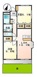 プランドール鎌倉台II[1階]の間取り