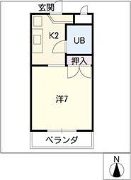 プチメゾン山田[3階]の間取り