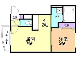 M-STAGE 3階1LDKの間取り
