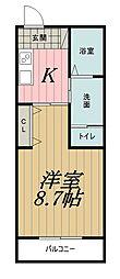 千葉県千葉市中央区新千葉2丁目の賃貸マンションの間取り