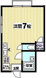 スターブライトマンション[101号室]の間取り
