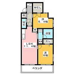 静岡茶町エンブルコート[1階]の間取り