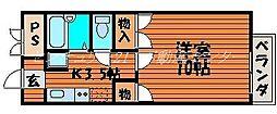 岡山県岡山市中区原尾島1丁目の賃貸マンションの間取り