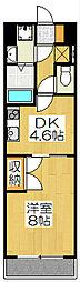 京都府京都市下京区西七条南東野町の賃貸マンションの間取り