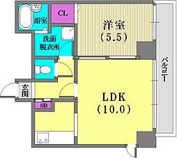 プレザン新神戸[6階]の間取り
