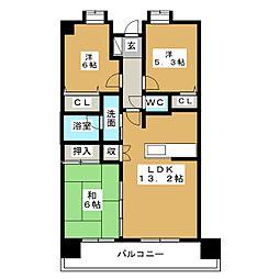 ステイシア高崎[8階]の間取り