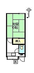 太田荘[207号室]の間取り