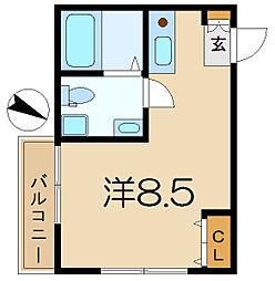 プランドール横濱[2階]の間取り