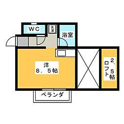 カーサユーツー[1階]の間取り