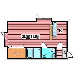 サンピア月寒[2階]の間取り
