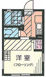 G・Aタウン鶴ヶ峰201号室[201号室]の間取り