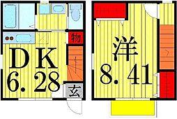 [テラスハウス] 東京都足立区本木東町 の賃貸【/】の間取り