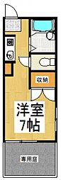 コーポ内堀[1階]の間取り