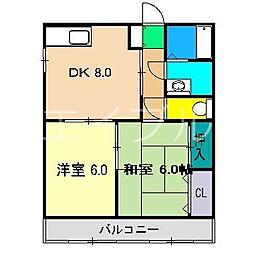 あざみのスクエア[2階]の間取り